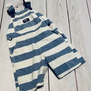 Cute Striped OshKosh Short Overalls